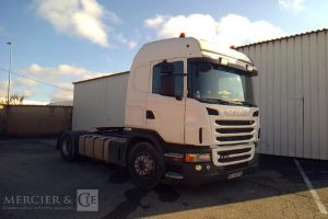SCANIA TRACTEUR ROUTIER G400 BLANC BF-328-PX